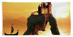 Sea Stack Castle Beach Towel