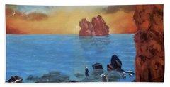 Sea Sunset Beach Towel