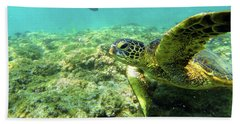 Beach Sheet featuring the photograph Sea Turtle #2 by Anthony Jones