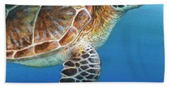 Sea Turtle 2 Of 3 Beach Sheet