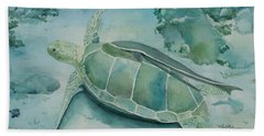 Sea Turtle And Friend Beach Towel