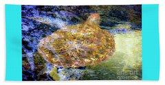 Sea Turtle In Hawaii Beach Towel