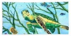 Sea Turtle Series #3 Beach Towel