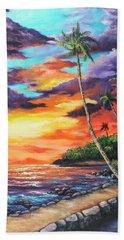 Beach Sheet featuring the painting Sea Wall Lahaina by Darice Machel McGuire
