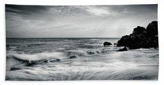 Sea Waves On The Beach Beach Towel
