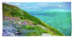 Seacoast At Howth Beach Towel by Judi Bagwell