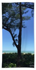 Seagrapes And Pines Beach Sheet by Megan Cohen