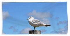 Seagull Beach Art - Sitting Pretty - Sharon Cummings Beach Towel