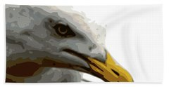 Seagull Closeup Beach Towel