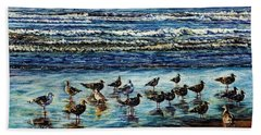Seagull Get-together Beach Towel