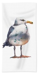 Seagull Print Beach Towel by Alison Fennell