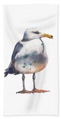 Seagull Print Beach Sheet by Alison Fennell
