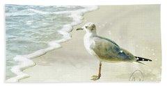 Seagull  Signed Beach Towel