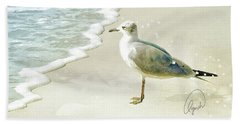 Seagull  Signed Beach Towel