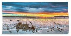 Seagull Sunset Beach Towel