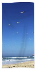 Seagulls And Pier Beach Towel