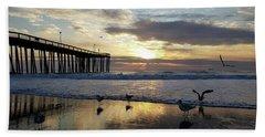 Seagulls And Salty Air Beach Towel