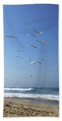 Seagulls In The Morning Beach Towel