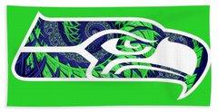 Seahawks Fractal Beach Towel