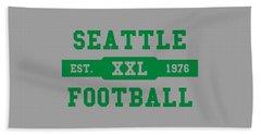 Seahawks Retro Shirt Beach Towel