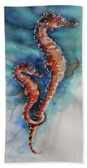 Seahorse 1 Beach Towel