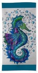 Seahorse 6 Beach Towel by Megan Walsh