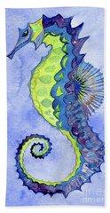 Seahorse Noveau Beach Towel