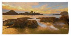 Seal Rock Sunset Beach Towel