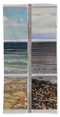 Beach Towel featuring the painting Searching For Freedom by Stanza Widen