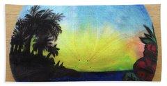 Seascape On A Sand Dollar Beach Sheet by Mary Ellen Frazee