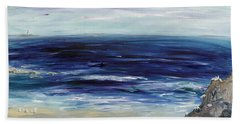 Seascape With White Cats Beach Towel