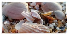 Seashells And Pebbles Beach Towel