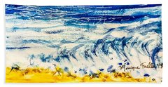 Beach Towel featuring the painting Seashore  by Monique Faella
