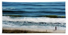 Seaside Fisherman Beach Sheet by Glenn Gemmell