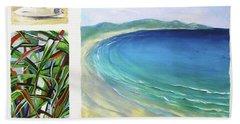 Beach Towel featuring the painting Seaside Memories by Chris Hobel