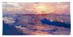 Seaside Swirl Beach Towel by Anthony Fishburne