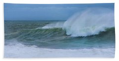 Beach Towel featuring the photograph Seaspray by Robin-Lee Vieira