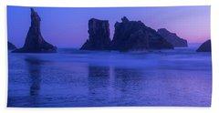 Seastack Sunset In Bandon Beach Sheet