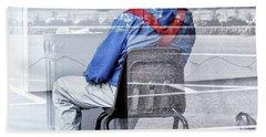 Seated Man Beach Sheet