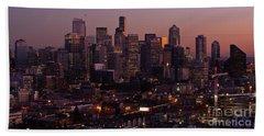 Seattle Dusk Beach Towel