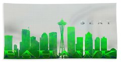 Seattle Greens Beach Towel