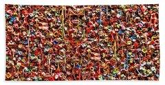 Seattle Gum Wall 2 Beach Sheet by Allen Beatty
