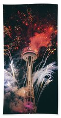 Seattle Beach Towel by Happy Home Artistry