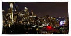 Seattle Nightscape 2 Beach Sheet