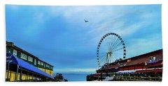 Seattle Pier 57 Beach Towel