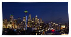Seattle Seahawks Space Needle Beach Sheet