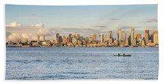 Seattle Skyline 2 Beach Towel