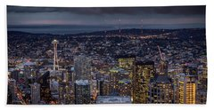 Seattle Skyline Beach Sheet