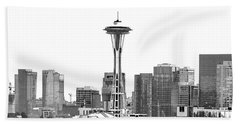 Seattle Skyline Graphic 1 Beach Towel