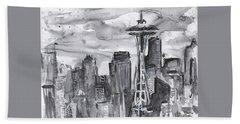 Seattle Skyline Space Needle Beach Towel